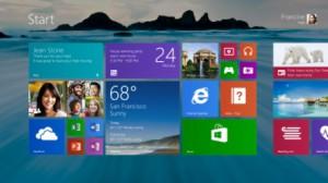 Startscreen Windows 8/RT