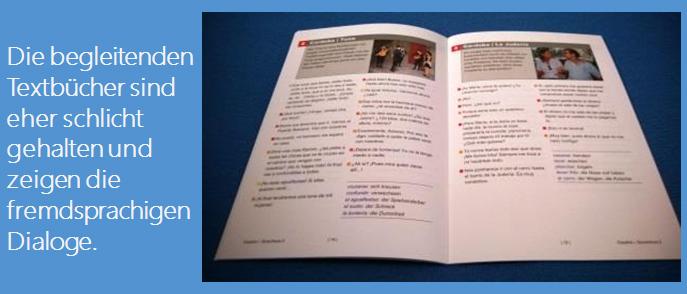 Dialoge der Audio-CDs des Sprachkurses