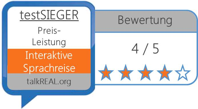 Testsieg Digital Publishing - Interaktive Sprachreise