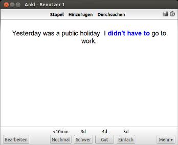 Grammatik lernen mit Anki - Deutsch Englisch