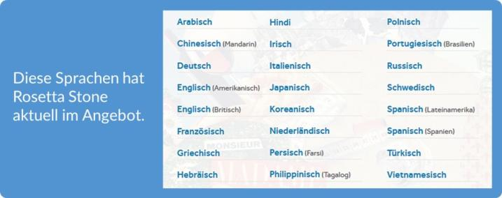 tR Blog Rosetta Stone Test Übersicht der Sprachen 720