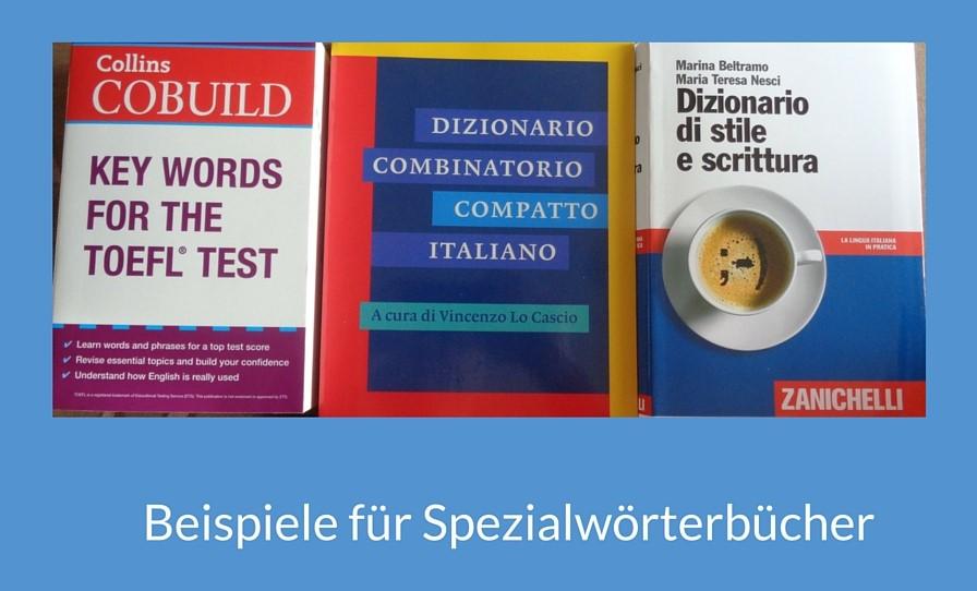 Beispiel Spezialwörterbücher