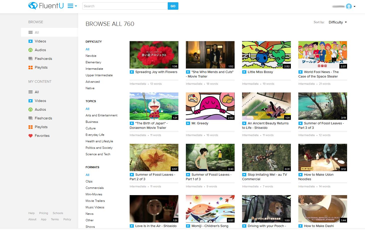 FluentU Videoübersicht