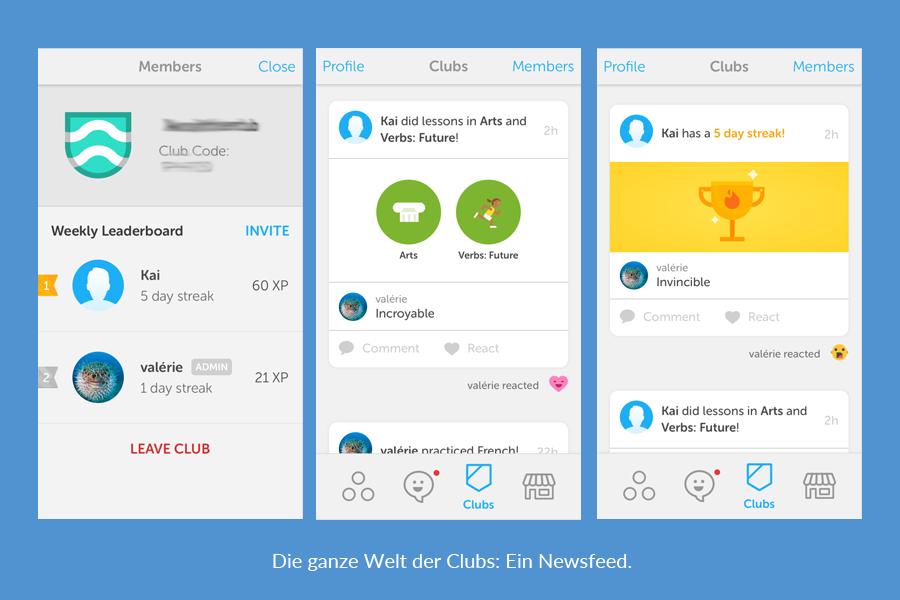 Duolingo Clubs: Nichts weiter als ein Newsfeed