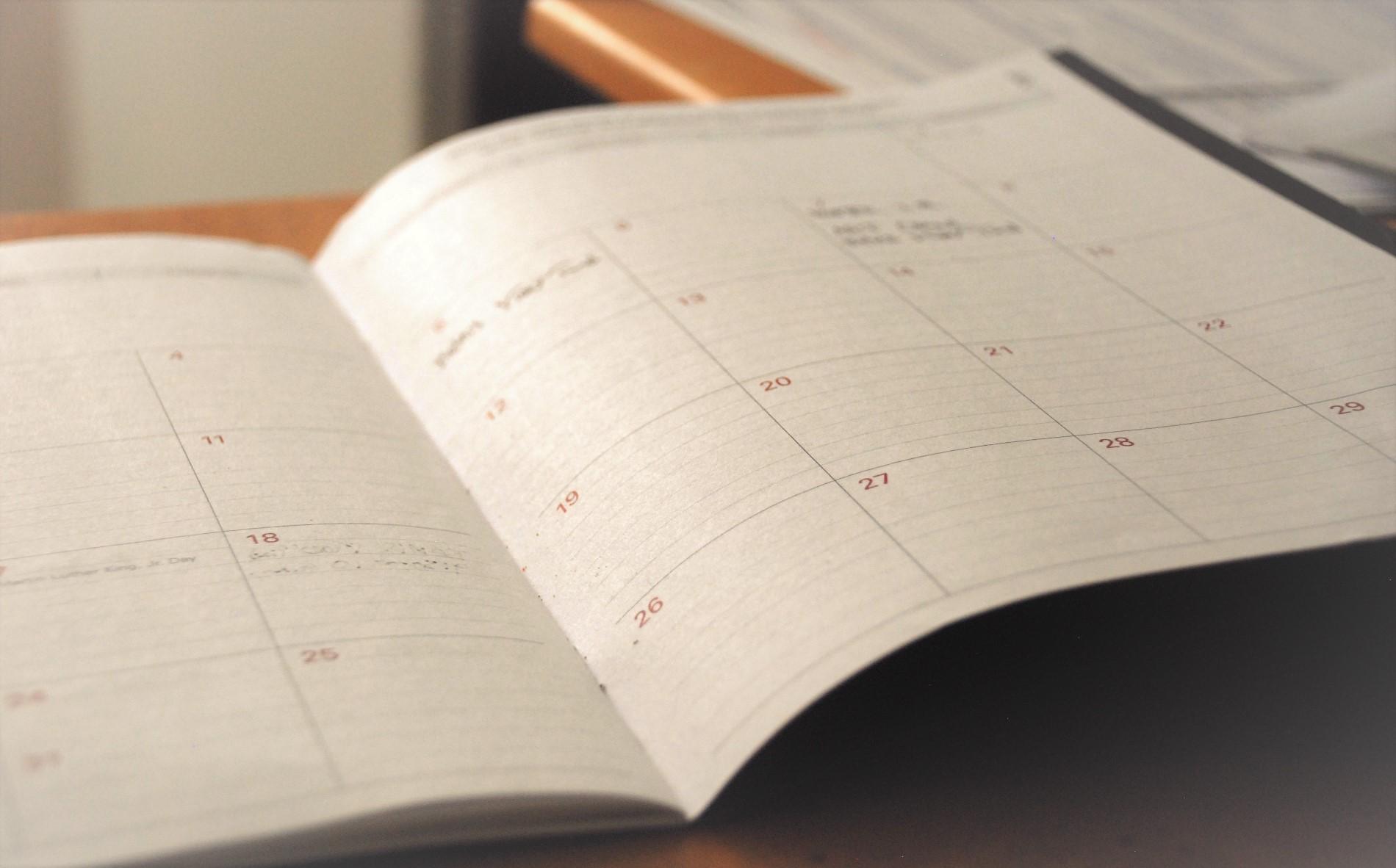 Kalender mit Lernplan