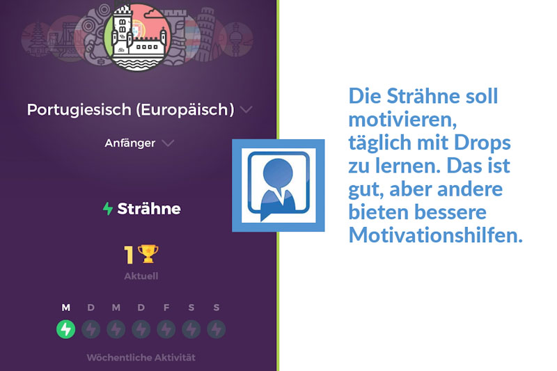 Gamification in der Drops App durch Stähnen