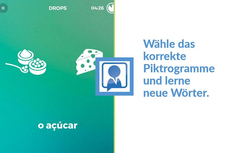 Beispiel für eine Drops Übung in der App
