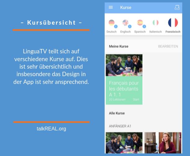 Die verfügbaren Sprachkurse in der LinguaTV App