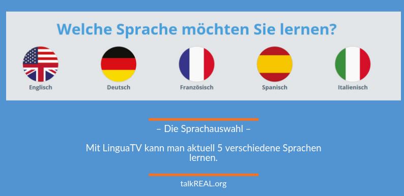 Liste der verfügbaren Sprachen bei LinguaTV