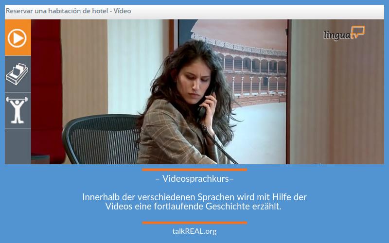 Blick in den Videosprachkurs von LinguaTV