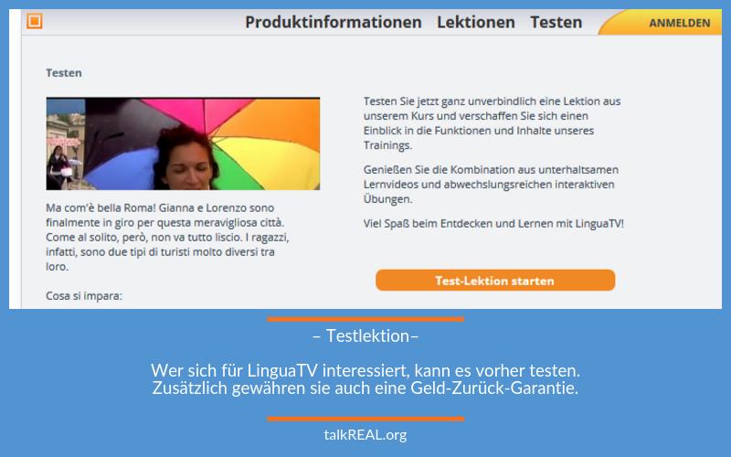 Die Testlektion von LinguaTV