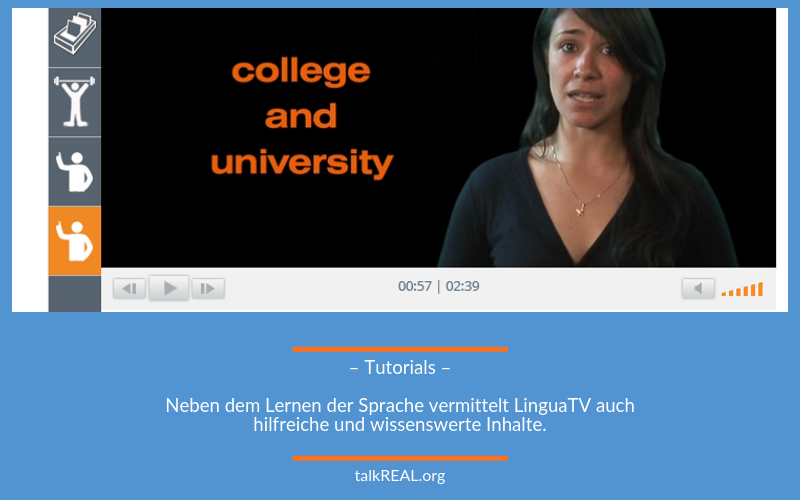 Tutorial American Educational System in LinguaTV