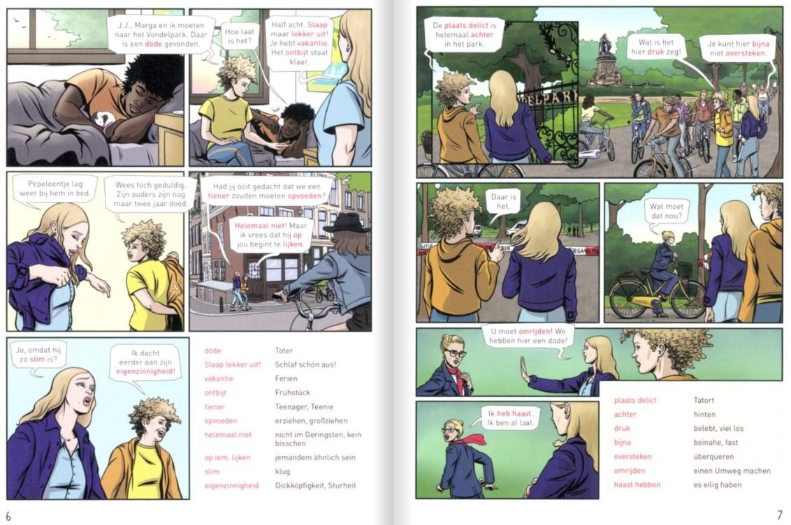 Ein Beispiel für einen Lernkrimi als Comic