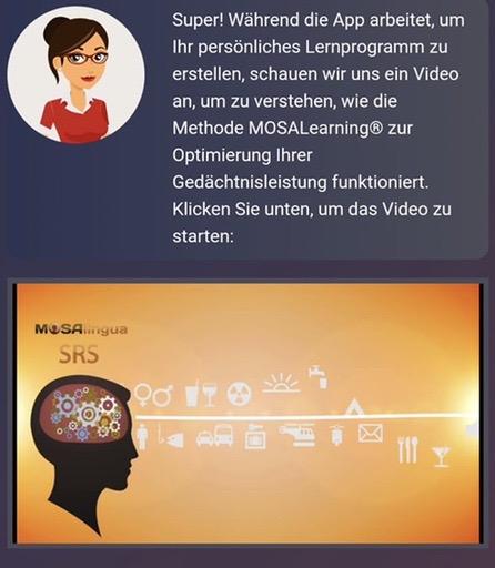 Mosalingua erklärt im Video die MOSALearning-Methode
