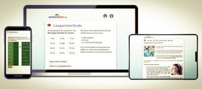 Bildschirme zeigen Sprachenlernen24