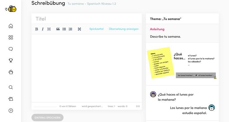 Erfahrungen mit einer Schreibuebung bei Chatterbug im Test
