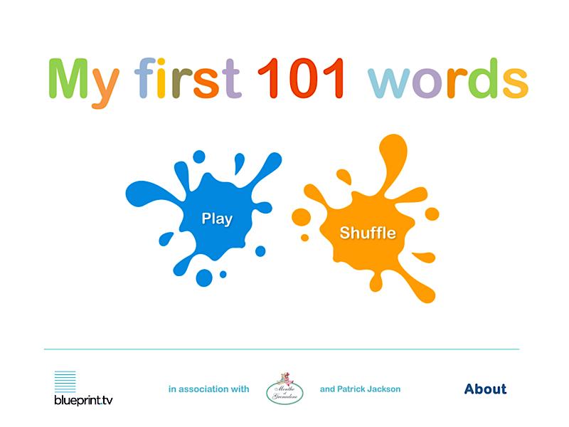 Englischlernen mit My Frist 101 Words Menue