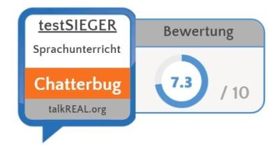 Testsieg Chatterbug bester Sprachunterricht im Test