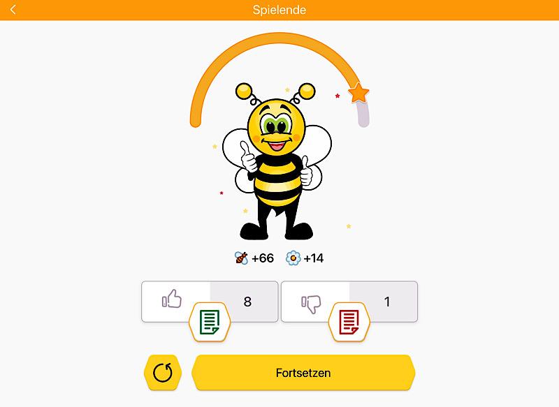 FunEasyLearns Maskottchen: Eine süße Biene